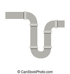 下水管, シルエット, 色, サイフォン, パイプ, 背景, 白
