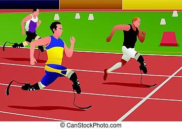 不具, 動くこと, 運動選手, 競争