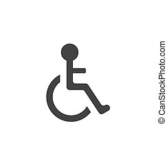 不具, 車椅子, pictogram