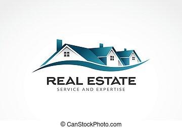 不動産, イラスト, 家, ベクトル, logo.