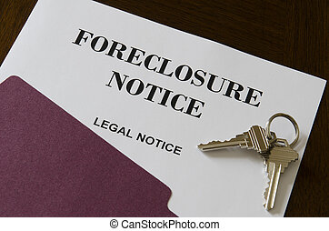 不動産, 家, 受戻権喪失, 法的, 通知, そして, キー