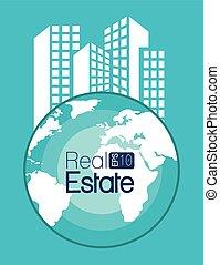 不動産, 家, 地球, 隔離された, デザイン, 使用料, apartament