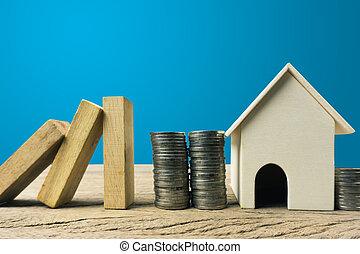 不動産, concept., ∥あるいは∥, 保護, 家の 保険