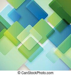 不同, 概念, 顏色, 摘要, squares., 設計, 背景