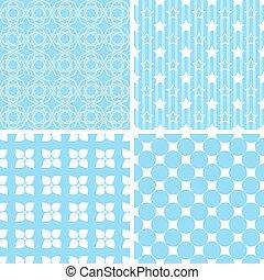不同, 矢量, seamless, patterns.