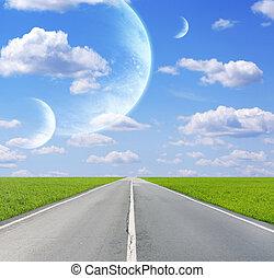 不同, 行星, 天空