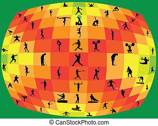 不同, 运动, 收集, -, 矢量