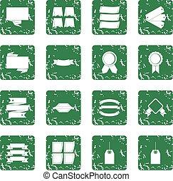 不同, 鮮艷, 標籤, 圖象, 集合, grunge