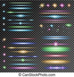 不同, circolar, 彙整, 閃電, 閃閃發光, 矢量, 簽, shapes: