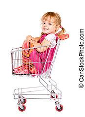 不安である, 女の子, 買い物