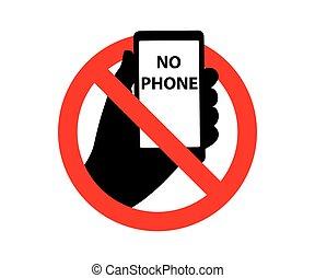 不気味である, 電話, シンボル, サイン, いいえ
