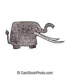 不鮮明なマンモス, 漫画