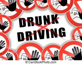不, 喝醉了開車