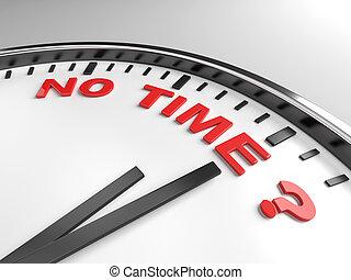不, 時間