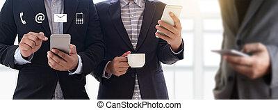 与我们联系, (customer, 支持, hotline, 人们, 连接, ), 电话, 客户支持