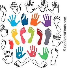 世代, フィートは 印刷する, 手