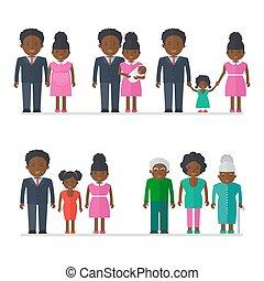 世代, 黒人の家族, 人々
