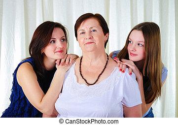 世代, 3, 一緒に, 女性