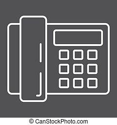 世帯, 器具, 電話アイコン, 家, 線