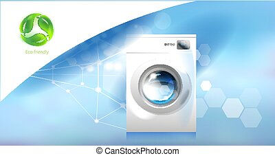 世帯, 現代, 環境, 器具, care., washer.