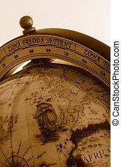 世界全球, 老, 地图