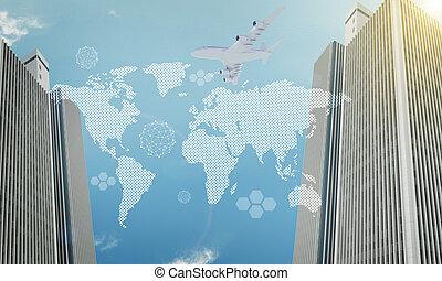 世界地図, ∥で∥, 超高層ビル