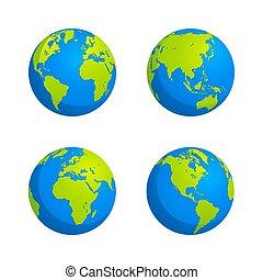 世界地図, 地球