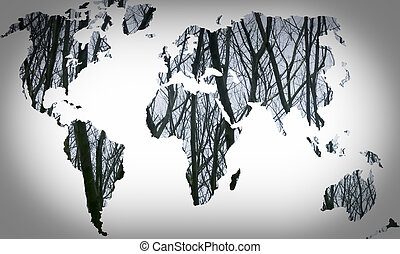 世界地图, 环境, 概念