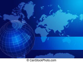 世界地球儀, 地図