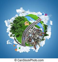 世界地球儀, 概念