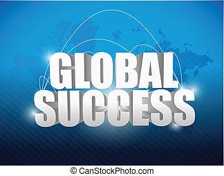 世界地球儀, 概念, 成功, 地図