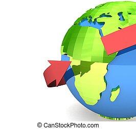 世界的である, コミュニケーション, 概念, 3D