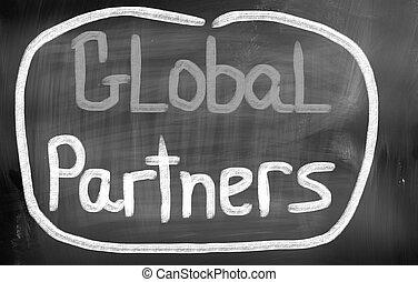 世界的である, パートナー, 概念
