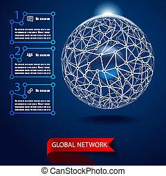世界的である, ベクトル, ネットワーク, 背景
