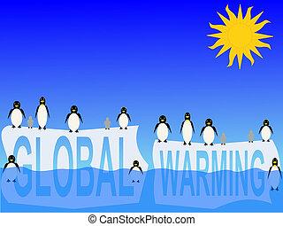 世界的である, ペンギン, 暖まること
