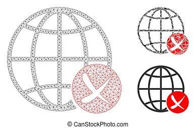 世界的である, モデル, 網, ネットワーク, 止まれ, 噛み合いなさい, ベクトル, アイコン, 三角形, モザイク