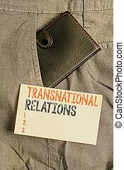 世界的である, 前部, showcasing, 提示, 政治, 小さい, 写真, ビジネス, 多国籍組織, ポケット, 表示法, paper., メモ, インターナショナル, 執筆, relations., 関係, 外交, trouser, 札入れ, 中