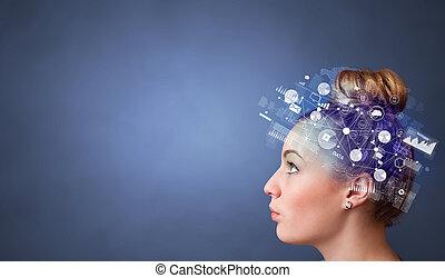 世界的である, 報告, フルである, 頭, 管理, 概念