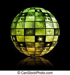 世界的である, 媒体, 技術, 世界, 球