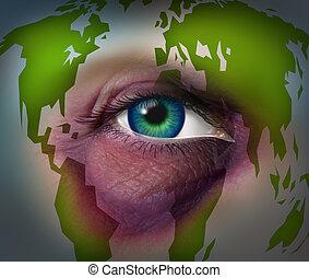 世界的である, 家庭内暴力