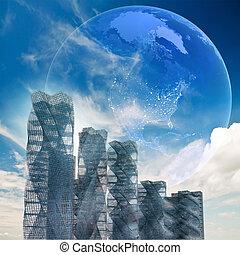 世界的である, 建築, 未来派