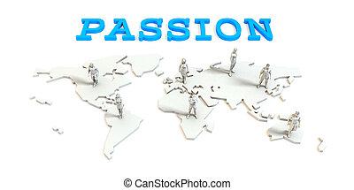 世界的である, 情熱, ビジネス