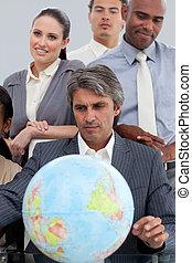 世界的である, 拡大, 成功した, ビジネス, 見る, グループ