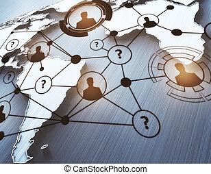 世界的である, 接続, 概念