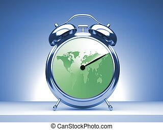 世界的である, 時間