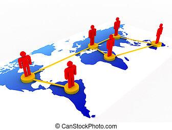 世界的である, 概念, ネットワーク, ビジネス