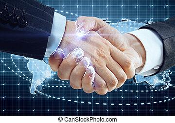 世界的である, 概念, 協力