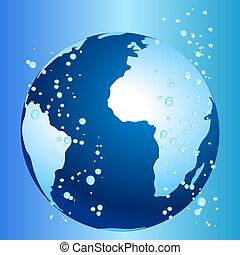 世界的である, 気候, 概念, 暖まること, 変化しなさい