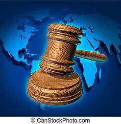 世界的である, 法律