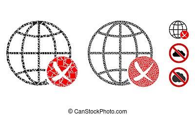 世界的である, 網, 止まれ, 構成, アイコン, 部分, きずもの
